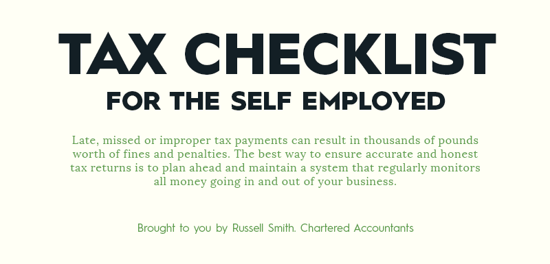 Infographic: How To Cope With Tax If You Are Self-employed