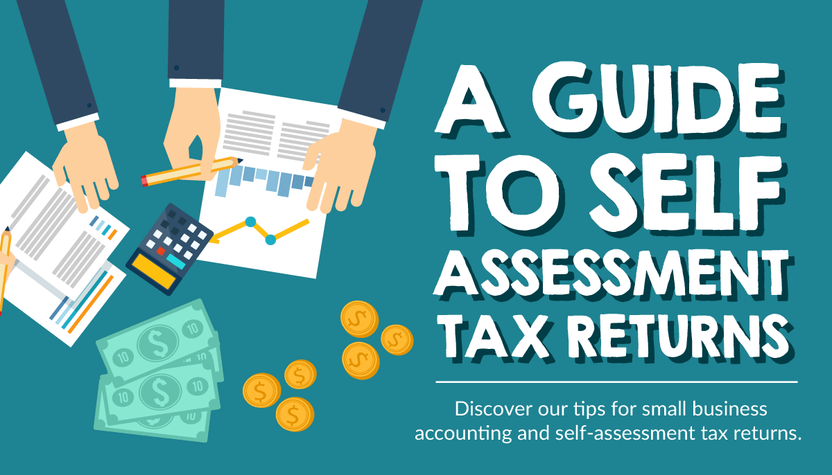 9-step guide infographic on self assessment tax returns for small businesses in the UK